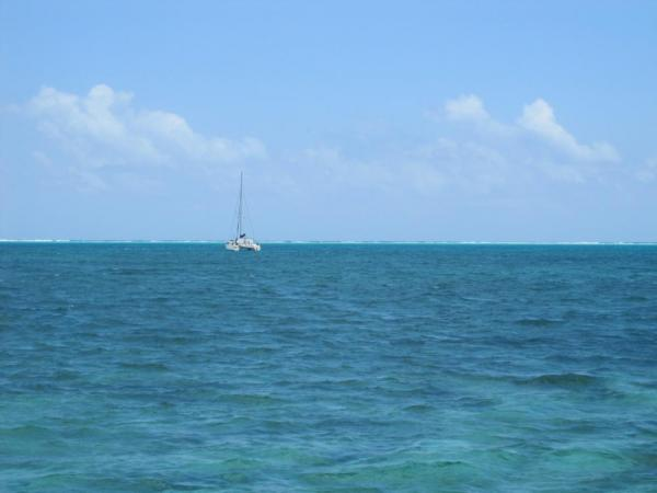 View from the beach on Caye Caulker