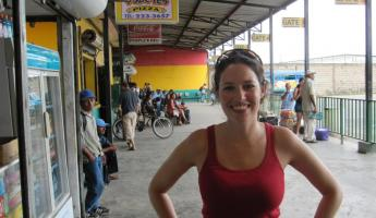 At the bus station in Belize City