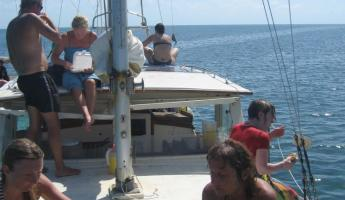 The sailboat we took for our snorkeling trip to Hol Chan