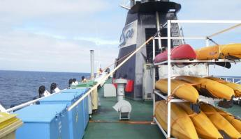 Suprisingly calm Drake Passage on the way to Antarctica
