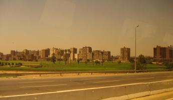 Suburbs of Cairo from the bus window