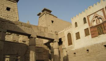 A view of the Luxor Temple