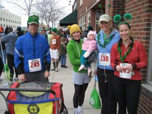 Adventure Lifers at annual St. Patty's Day run in Missoula.  Adventure Life also sponsors staff sporting events and teams to encourage a healthy lifestyle