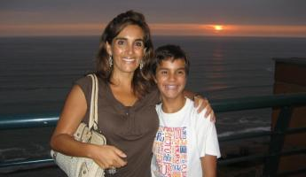 Our gracious host, Milagros, and her son