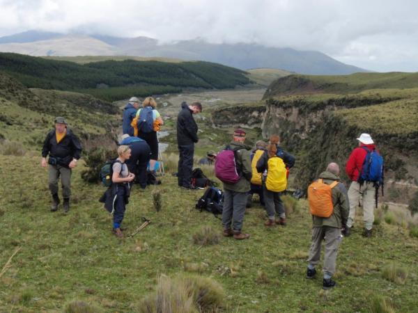 Hikers near Cotopaxi