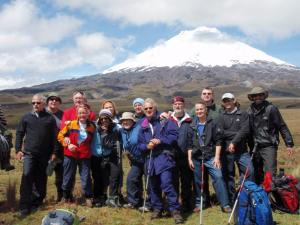 Hiking group near Cotopaxi