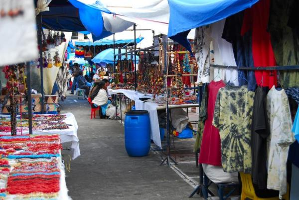 The colors of Otavalo Market are exquisite!