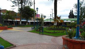 The town square in Cotacachi was full of vibrant color