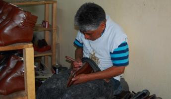 Cotacachi is known for its leather trade, like these shoes.