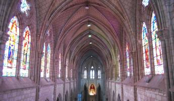 Interior of the neo-gothic Basilica