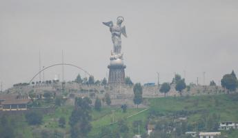 View of the Virgin of Quito from the Basilica