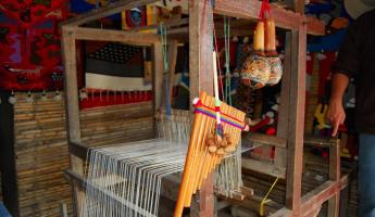 At IntiNan, we learned about the local weavings