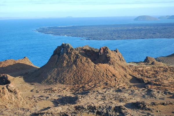 Extinct cinder cone in the Galapagos