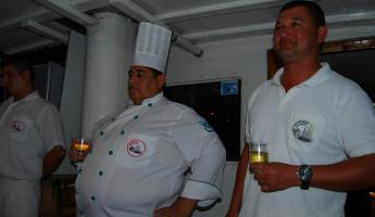 The crew- Tricky, Big Pedro, the chef and  Luis
