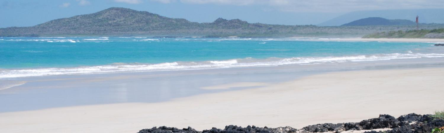 The beach at Puerto Villamil, Isabela Island in the Galapagos