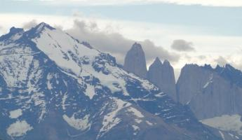Our first view of the famous Torres Del Paine