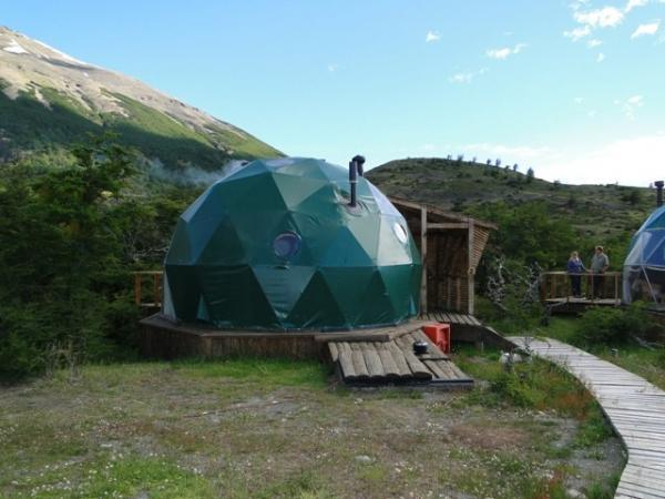 Our dome at the Ecocamp in Patagonia