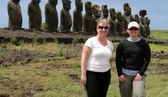 Moai sculptures of Easter Island