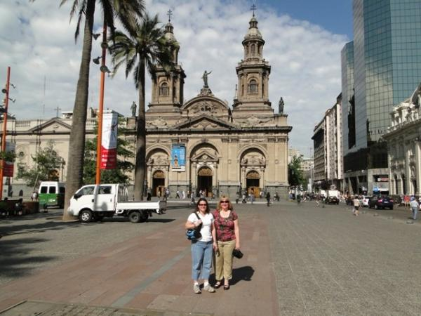 Margy and I in the square-Santiago