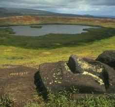Beautiful landscape of Chile\s Easter Island