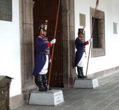 Guards at Palacio de Gobierno (Government Palace) - Quito