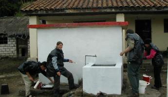Service Projects near Cotopaxi Volcano during Ecuador trip