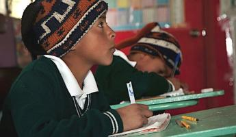 Students at school in Ecuador
