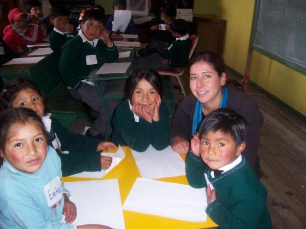 Service Project in Cotopaxi during Ecuador tour