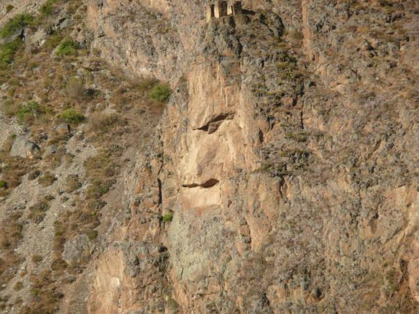 face on the mountain at Ollantaytambo