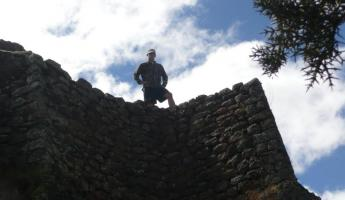 Zed atop some of the ruins at Pisac