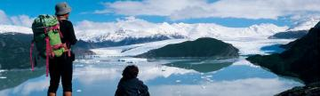 Exploring the ice on a Patagonia trekking tour