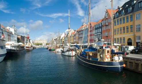 Port city of Copenhagen, Denmark