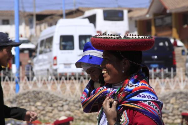 The people represent their tribes by wearing different hats