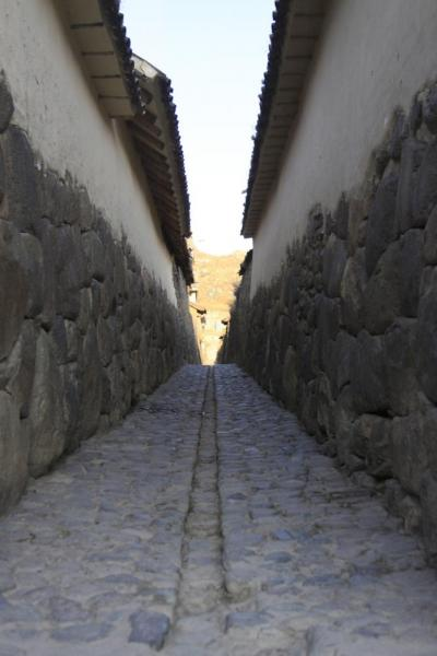 An alleyway in Ollantaytambo, most looked like this.