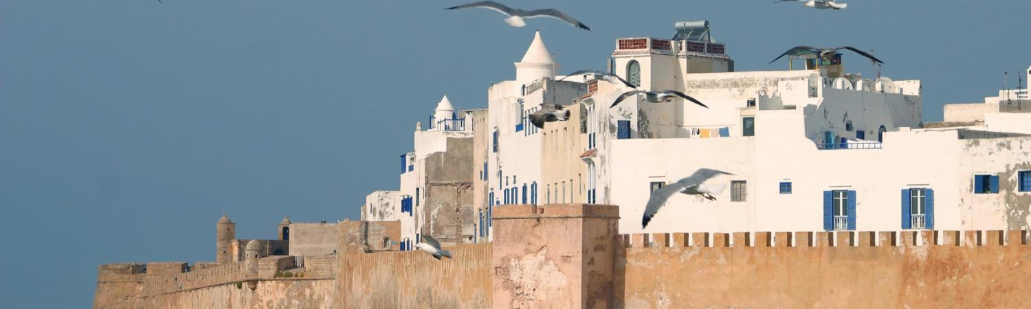 A view of the architecture of Morocco.