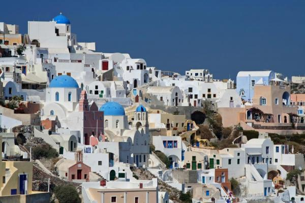 The whitewashed walls of Greece