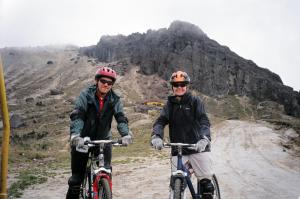 On a biking our of Ecuador at Pichincha Volcano