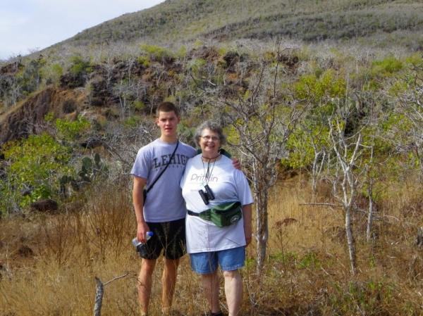 Rabida Island- The two of us on our hike