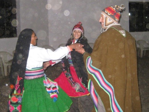 Dancing at the Lake Titicaca Party