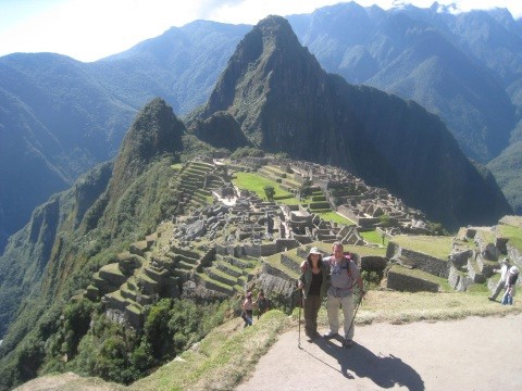 First sight of Machu Picchu
