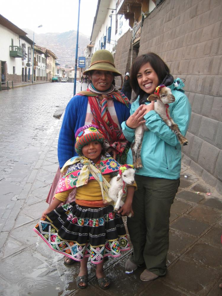 Traditional wear can be spotted around the streets of Cusco
