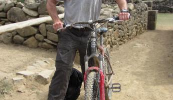 Chris and his mountain bike