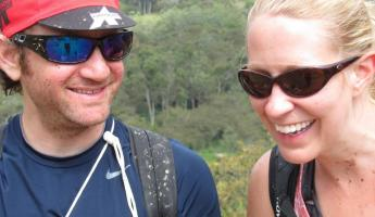 Andrew and Kassi after mountain biking