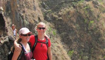 Ashley and Kassi on the day hike