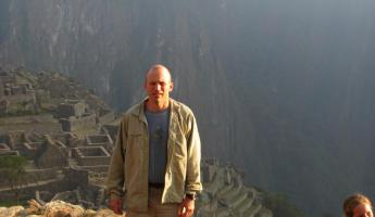 Chris at Machu Picchu for sunset