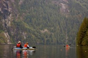 Wilderness kayaking in Alaska's Inside Passage