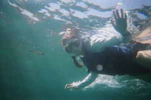 Enjoying a snorkeling tour in the Galapagos