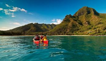 Kayak the tropical shores of Hawaii