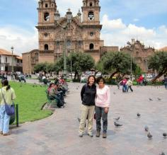 me and my mom, plaza de armas