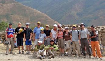 Our group after biking Malaga Pass